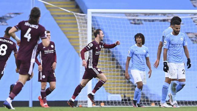 Klasemen Liga Inggris mengalami perubahan setelah Leicester City menghancurkan Manchester City dengan skor 5-2 di Stadion Etihad.