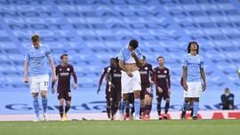 FOTO: Man City Dibantai Leicester City di Liga Inggris