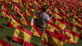 FOTO: 50 Ribu Bendera Spanyol, Penghormatan bagi Korban Covid