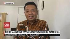 VIDEO: Ribuan Mahasiswa Yogyakarta Kembali Kuliah Tatap Muka