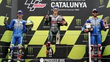 FOTO: Senyum Quartararo, Luka Dovizioso di MotoGP Catalunya