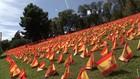 VIDEO: Ribuan Bendera Dikibarkan Hormati Penderita Tewas