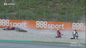 VIDEO: Momen Zarco dan Dovizioso Tabrakan di MotoGP Catalunya