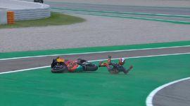VIDEO: Tiga Kecelakaan di MotoGP Catalunya