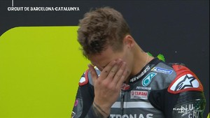 VIDEO: Tangisan Quartararo Usai Menang MotoGP Catalunya