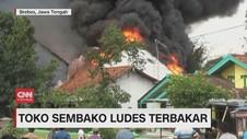 VIDEO: Toko Sembako Ludes Terbakar