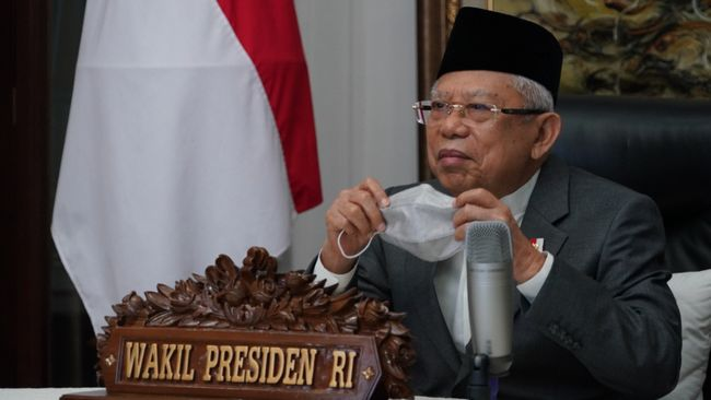 Ma'ruf Amin menyoroti ekspor produk halal Indonesia yang hingga saat ini masih tertinggal dari Brasil dan Australia.