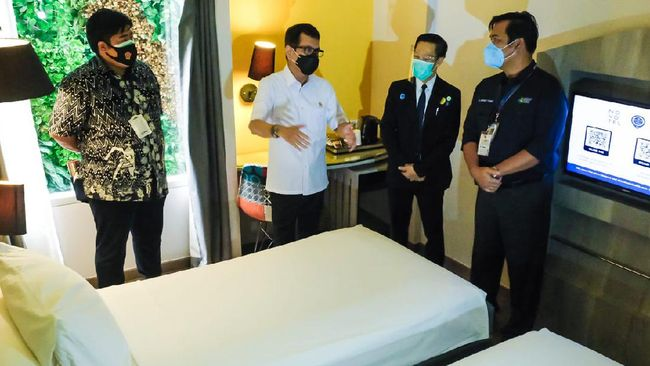 Fasilitas hotel isolasi untuk pasien terkonfirmasi tanpa gejala dan tenaga kesehatan yang disediakan Kemenparekraf mulai dimanfaatkan guna menekan pandemi.