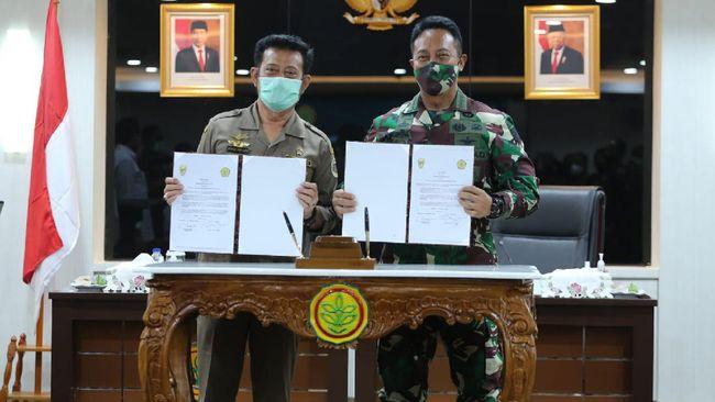 Kementan dan TNI AD sepakat memperkokoh kesiapan penyediaan pangan untuk rakyat Indonesia.