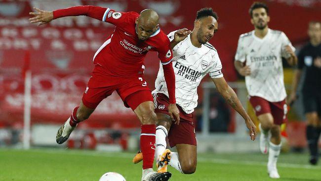 Kapten Arsenal Pierre Emerick Aubameyang tampil mengecewakan saat dipecundangi Liverpool 1-3 pada pekan ketiga Liga Inggris.