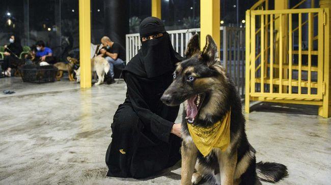 Arab Saudi kini memiliki kafe anjing. Kafe bernama The Barking Lot itu memungkinkan pengunjung membawa hewan peliharaan sambil menyeruput kopi.