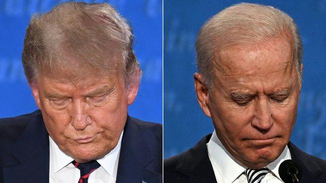 Donald Trump dan Joe Biden bertarung dalam debat terakhir calon presiden Amerika Serikat, Kamis (22/10) malam waktu lokal.