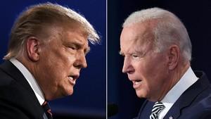 FOTO: Sengit Debat Pertama Trump-Biden