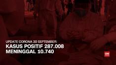 VIDEO: Kasus Positif Corona Capai 287.008 per 30 September