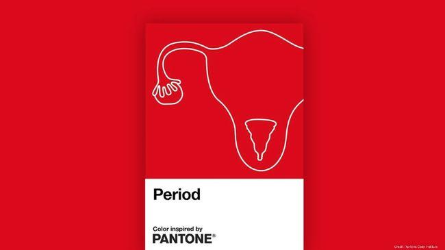 Warna merah berani yang dinamai 'Period' dihadirkan Pantone untuk membantu melawan tabu dan stigma terhadap menstruasi.