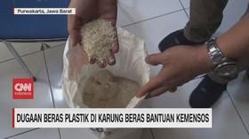 VIDEO: Dugaan Beras Plastik di Karung Beras Bantuan Kemensos