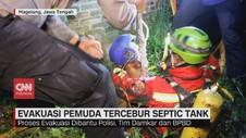 VIDEO: Evakuasi Pemuda Tercebur Septic Tank