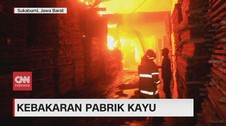 VIDEO: Kebakaran Pabrik Kayu di Sukabumi
