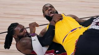 FOTO: Lakers Hajar Miami Heat di Game 1 Final NBA 2020