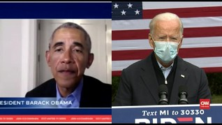VIDEO: Obama-Biden Doakan Trump Segera Sembuh dari Corona