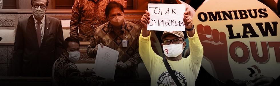 DPR Sahkan Omnibus Law Cipta Kerja