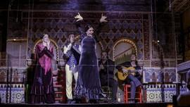 FOTO: Pertunjukan Flamenco Disekat Plastik Selama Pandemi