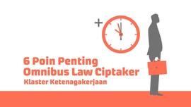 INFOGRAFIS: 6 Poin Penting Omnibus Law soal Ketenagakerjaan