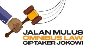 INFOGRAFIS: Jalan Mulus Omnibus Law Ciptaker Jokowi