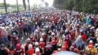 VIDEO: Aksi Ribuan Buruh Tolak Pengesahan UU Cipta Kerja