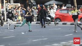 FOTO: Demo Mahasiswa Menolak Omnibus Law di Jakarta