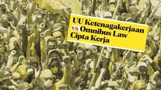 INFOGRAFIS: Perbedaan UU Ciptaker dengan UU Ketenagakerjaan