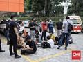 Polisi Adang dan Tangkap Pelajar Tolak Omnibus Law di DPR