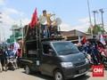 Buruh Semarang Demo di Pelabuhan Tanjung Mas, Lalin Lumpuh