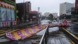 FOTO: Badai Delta Terjang Meksiko
