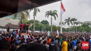 Demo Tolak Omnibus Law Berlanjut di Medan dan Palembang