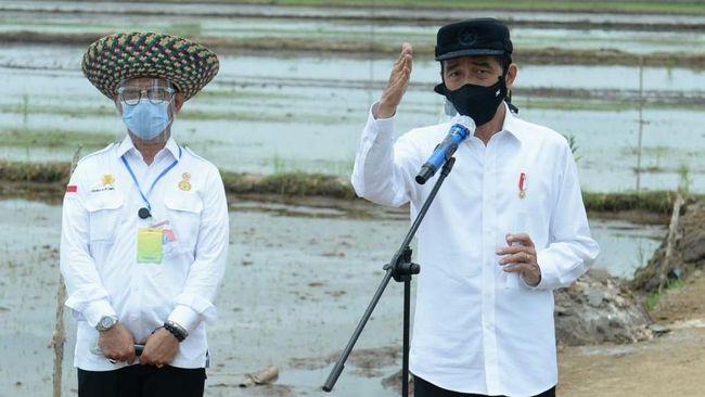 Presiden Jokowi meminta kepada para kepala daerah, khususnya di wilayah yang akan dibangun lumbung pangan untuk mempercepat perizinan di lapangan.