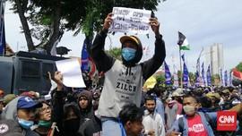 Pelajar Ikut Demo Tolak UU Ciptaker Bersama Buruh & Mahasiswa