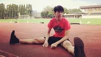 <p>Di waktu senggangnya, Ayman memang gemar berolahraga, Bunda. (Foto: Instagram @pakduta)</p>
