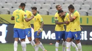 FOTO: Brasil Menang Telak 5-0 Atas Bolivia