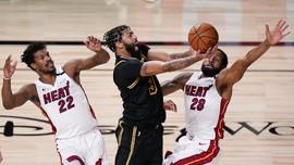 FOTO: Heat Redam Lakers di Game Kelima Final NBA