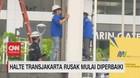 VIDEO: Halte Transjakarta Rusak Mulai Diperbaiki