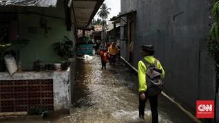Hujan Deras di Jakarta, 4 RT dan 7 Jalan Banjir
