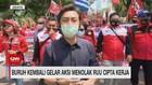 VIDEO: Buruh Kembali Gelar Aksi Menolak RUU Cipta Kerja