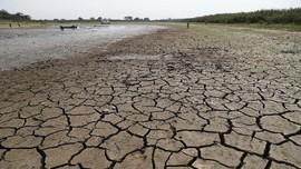 FOTO: Kekeringan Picu Penurunan Debit Air Sungai Paraguay