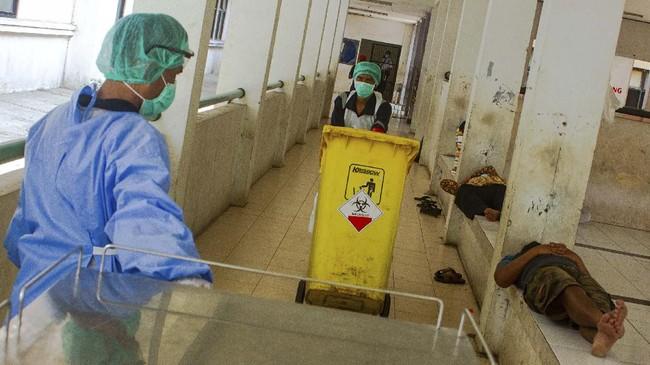Limbah medis akibat covid-19 dilebur untuk mencegah risiko membahayakan.