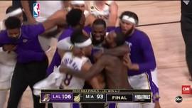VIDEO: Kalahkan Heat 106-96 di Game 6, Lakers Juara NBA 2020