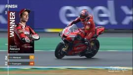 VIDEO: Drama Petrucci Menang MotoGP Prancis 2020