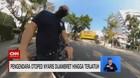 VIDEO: Pengendara Otoped Dijambret hingga Terjatuh