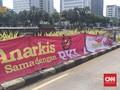 Satpol PP: Spanduk Propaganda di Medan Merdeka Langgar Perda