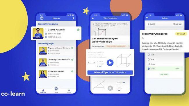 Aplikasi lokal CoLearn punya fitur untuk bantu pelajar untuk memecahkan soal matematika.